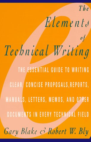Elements of Technical Writing   1993 edition cover