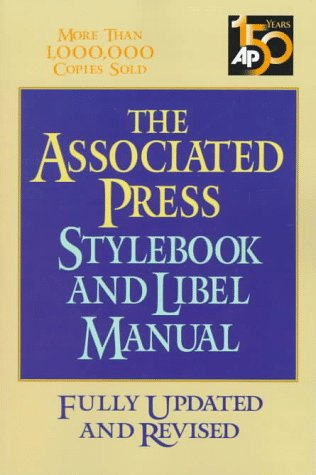 Associated Press Stylebook and Libel Manual  7th 1998 (Revised) edition cover