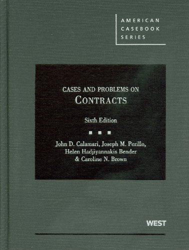 Cases and Problems on Contracts  6th 2011 (Revised) edition cover