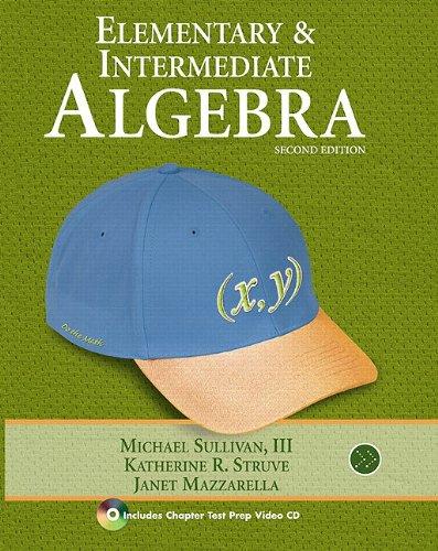 Elementary and Intermediate Algebra:  2009 edition cover
