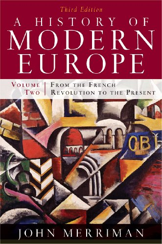 History of Modern Europe From the French Revolution to the Present 3rd 2010 edition cover