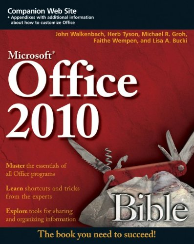 Office 2010 Bible  3rd 2010 edition cover