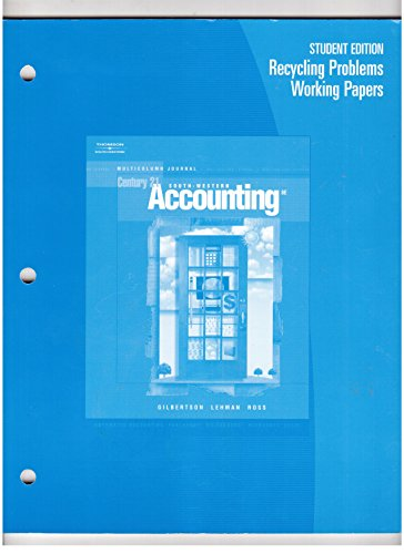 Accounting Multicolumn Journal 8th 2006 9780538972857 Front Cover