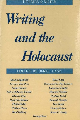 Writing and the Holocaust   1988 edition cover
