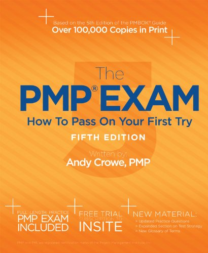 PMP Exam How to Pass on Your First Try 5th 9780982760857 Front Cover