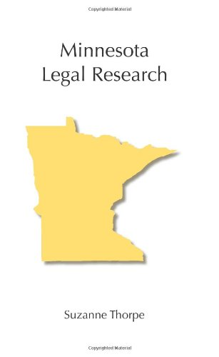 Minnesota Legal Research   2010 edition cover