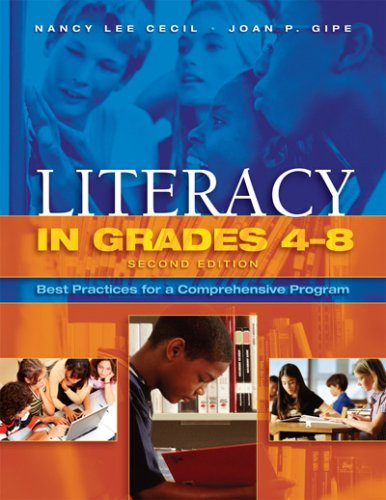 Literacy in Grades 4-8 Best Practices for a Comprehensive Program 2nd 2008 edition cover
