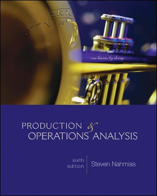 Production and Operations Analysis 6th 2009 edition cover