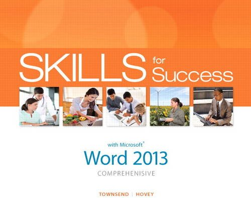 Skills for Success with Word 2013 Comprehensive   2014 edition cover