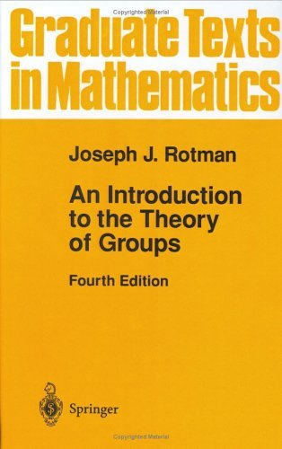 Introduction to the Theory of Groups  4th 1995 (Revised) edition cover