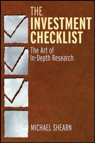 Investment Checklist The Art of In-Depth Research  2012 edition cover