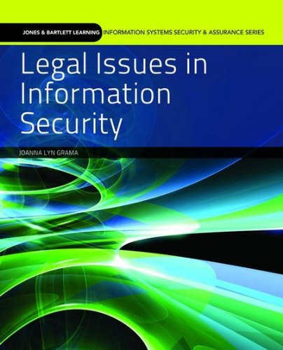 Legal Issues in Information Security   2011 edition cover
