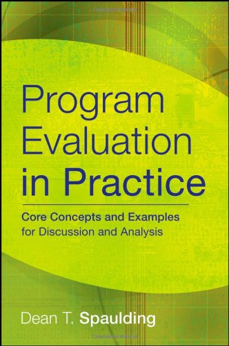 Program Evaluation in Practice Core Concepts and Examples for Discussion and Analysis  2008 9780787986858 Front Cover