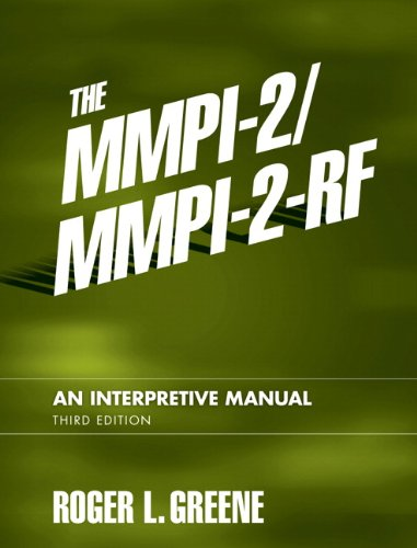 MMPI-2/MMPI-2-RF An Interpretive Manual 3rd 2011 edition cover