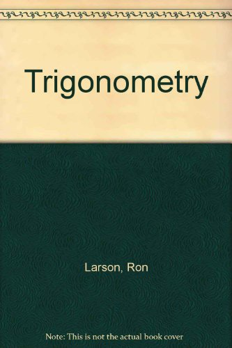 Trigonometry  8th 2011 9780538738859 Front Cover