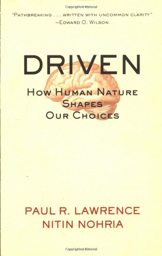 Driven How Human Nature Shapes Our Choices  2002 9780787963859 Front Cover