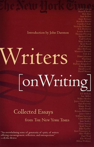 Writers on Writing Collected Essays from the New York Times  2002 (Revised) edition cover