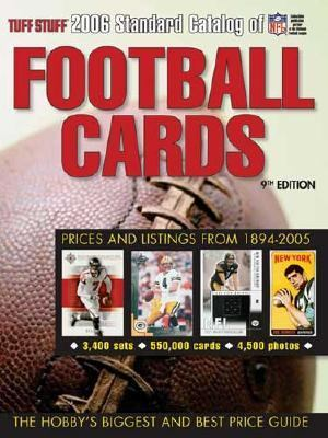 Tuff Stuff Standard Catalog of Football Cards 9th 9780873499859 Front Cover