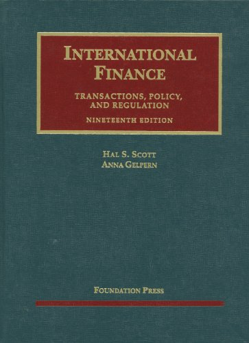 International Finance, Transactions, Policy, and Regulation, 19th  19th 2012 (Revised) edition cover