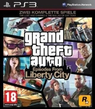 "Grand Theft Auto: Episodes from Liberty City - Zwei komplette Spiele: ""The Lost and Damned"" + ""The Ballad of Gay Tony"" [PEGI] PlayStation 3 artwork"