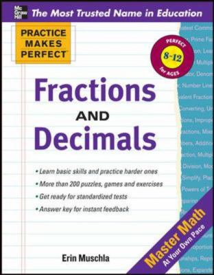 Practice Makes Perfect: Fractions, Decimals, and Percents   2013 9780071772860 Front Cover