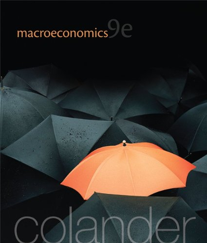 Macroeconomics  9th 2013 edition cover