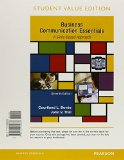 Business Communication Essentials, Student Value Edition Plus MyBCommLab with Pearson EText -- Access Card Package  7th 2016 edition cover