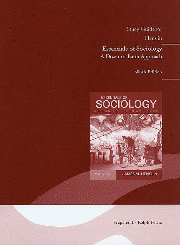 Study Guide for Essentials of Sociology, A down-to-Earth Approach  9th 2011 edition cover