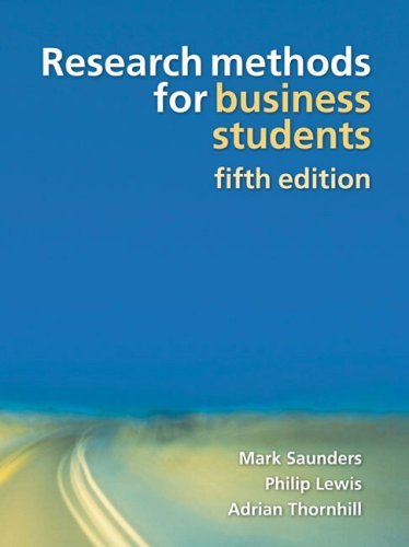 Research Methods for Business Students  5th 2009 edition cover