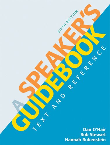 Speaker's Guidebook Text and Reference 5th 9780312642860 Front Cover