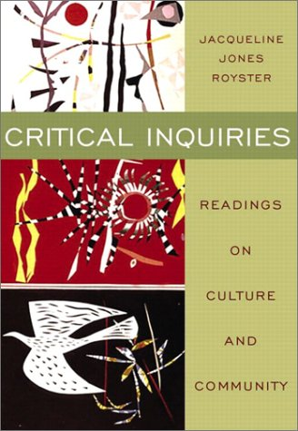 Critical Inquiries Readings on Culture and Community  2003 edition cover