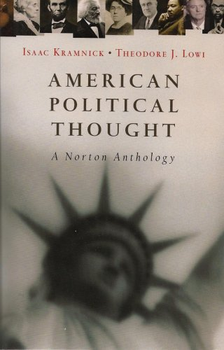 American Political Thought A Norton Anthology N/A edition cover