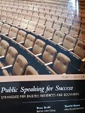 PUBLIC SPEAKING FOR SUCCESS             N/A 9780738059860 Front Cover