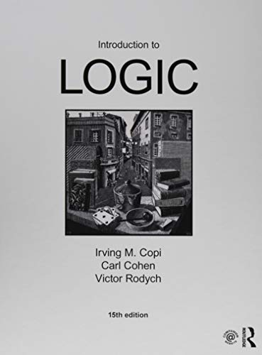 Introduction to Logic:   2018 9781138500860 Front Cover
