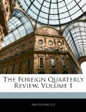 Foreign Quarterly Review N/A edition cover
