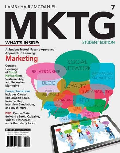 Mktg + Marketing Coursemate With Ebook and Career Transitions Printed Access Card: 7th 2013 edition cover