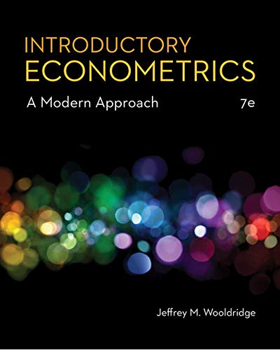 Introductory Econometrics: A Modern Approach  2018 9781337558860 Front Cover