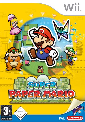 Super Paper Mario Nintendo Wii artwork