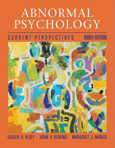 Abnormal Psychology Current Perspectives 9th 2005 edition cover