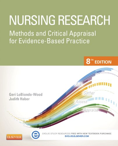 Nursing Research Methods and Critical Appraisal for Evidence-Based Practice 8th 2014 9780323100861 Front Cover