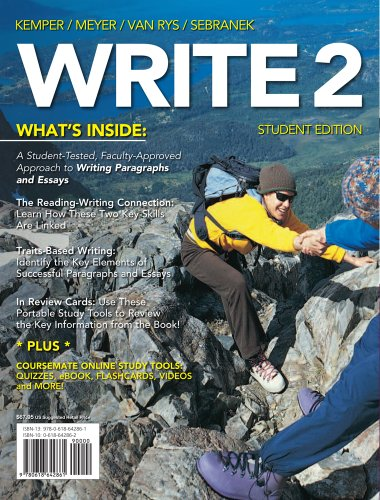 Write 2   2012 9780618642861 Front Cover