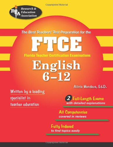 FTCE English 6-12  N/A 9780738601861 Front Cover