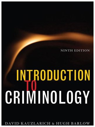 Introduction to Criminology  9th 2008 edition cover