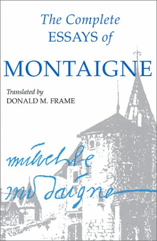 Complete Essays of Montaigne   1958 edition cover