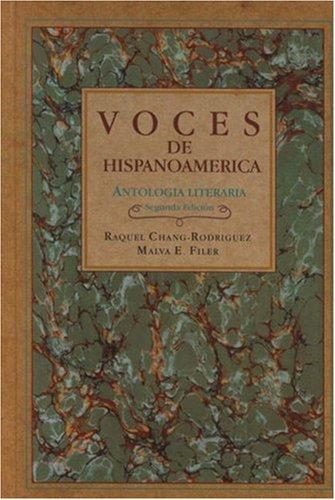 Voces de Hispanoam�rica Antolog�a literaria 2nd 1995 edition cover