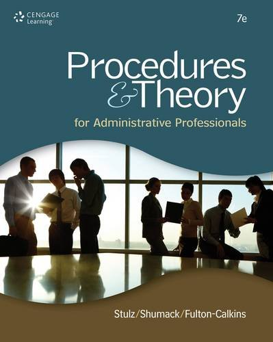 Procedures and Theory for Administrative Professionals  7th 2013 edition cover