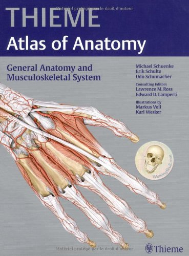 Atlas of Anatomy - General Anatomy and Musculoskeletal System   2010 edition cover
