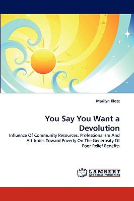 You Say You Want a Devolution N/A 9783838362861 Front Cover