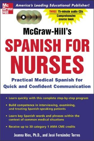 McGraw-Hill's Spanish for Nurses  2nd 2005 (Revised) 9780071439862 Front Cover