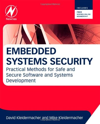 Embedded Systems Security Practical Methods for Safe and Secure Software and Systems Development  2012 edition cover